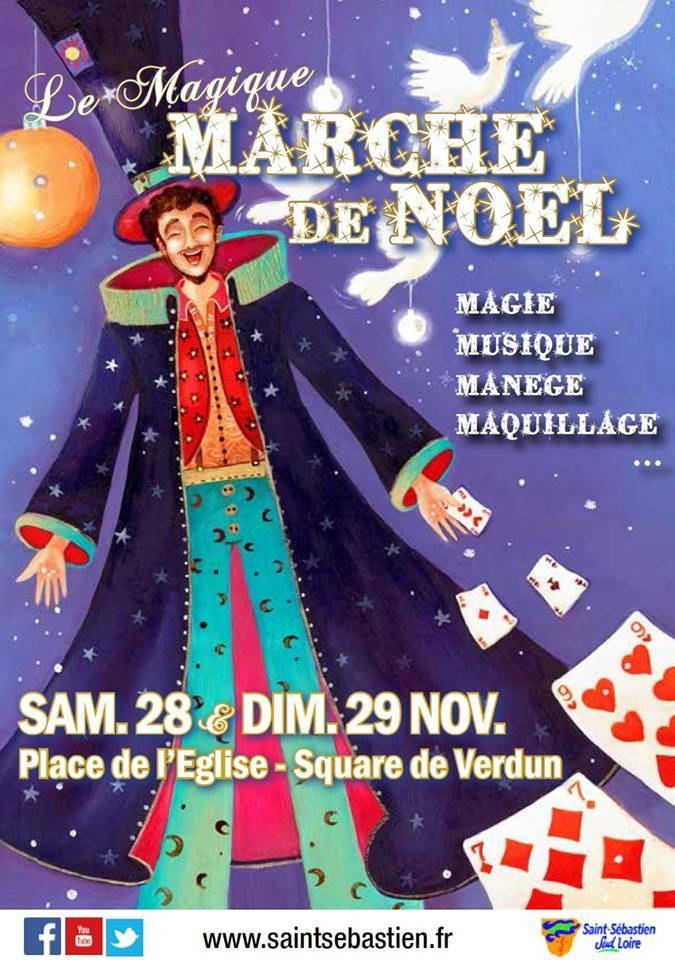 magicien marche de noel